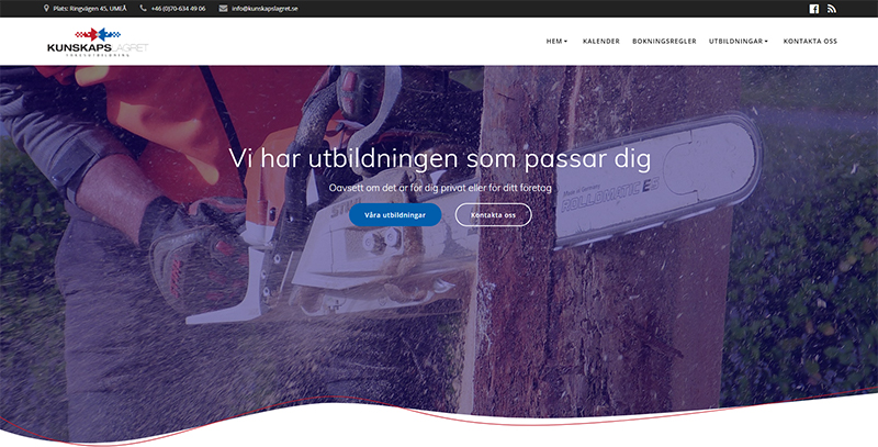 Vår nya hemsida